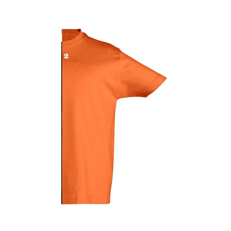 Home T-shirt children short sleeve orange - 12teeshirt.com