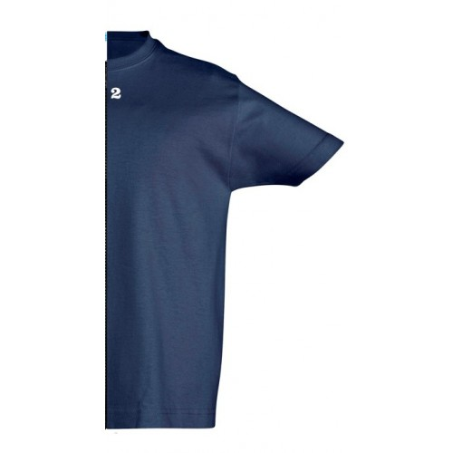 T-shirt children short sleeve navy blue