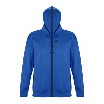 Sweat-shirt separable man with hood royal blue