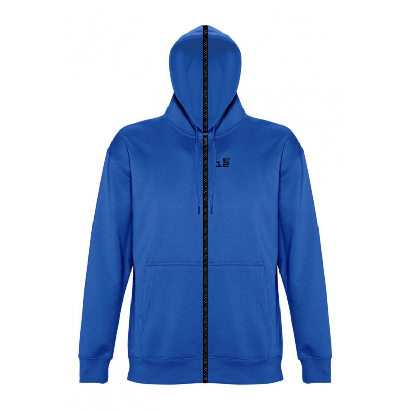 Home Sweat-shirt separable man with hood royal blue - by12.co.uk