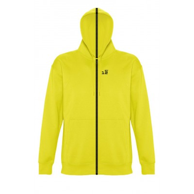 Sweat-shirt separable man with hood lemon yellow