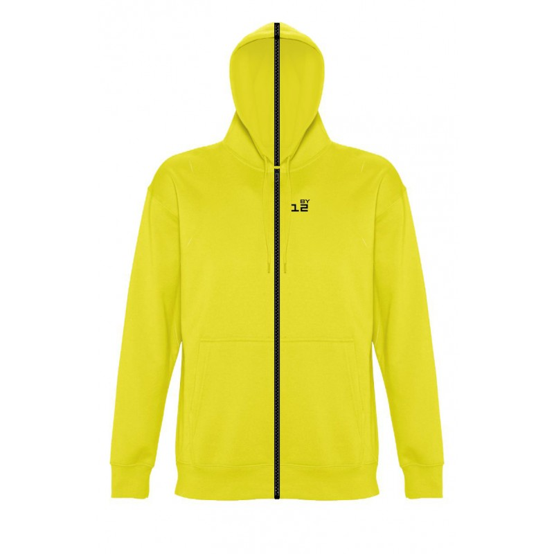 Home Sweat-shirt separable man with hood lemon yellow - by12.co.uk