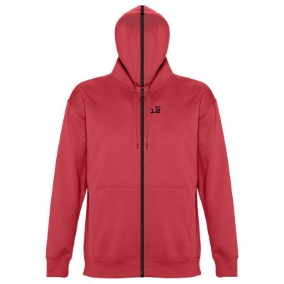 Sweat-shirt separable man with hood red