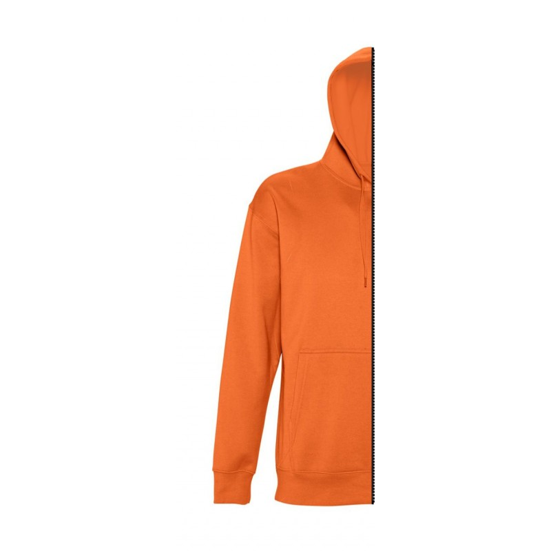 Home Sweat-shirt man with hood orange - 12teeshirt.com