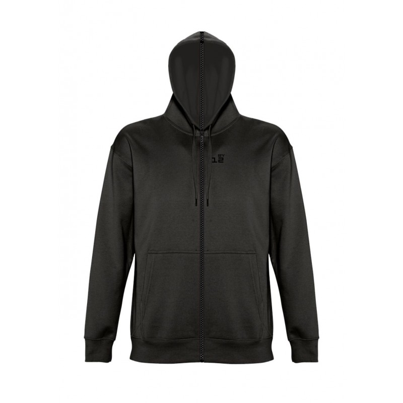 Home Sweat-shirt separable man with hood black - by12.co.uk