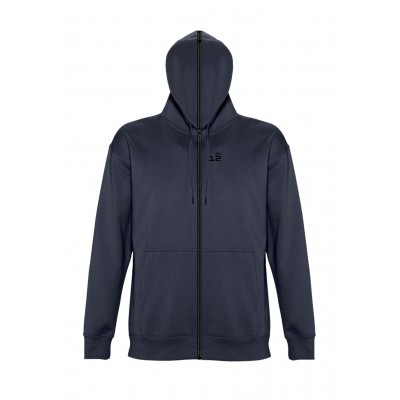 Sweat-shirt separable man with hood navy blue