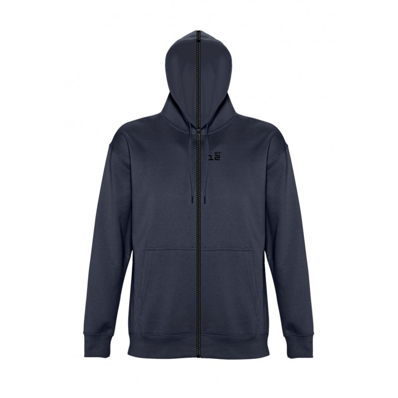 Home Sweat-shirt separable man with hood navy blue - by12.co.uk