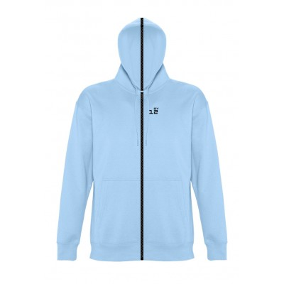 Sweat-shirt separable man with hood sky blue