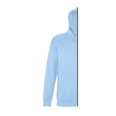 Sweat-shirt man with hood sky blue