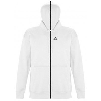 Sweat-shirt separable man with hood white
