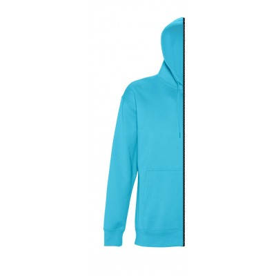 Sweat-shirt man with hood turquoise