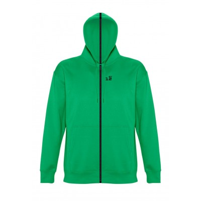 Sweat-shirt separable woman with hood kelly green