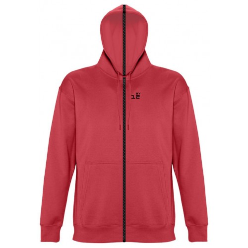 Sweat-shirt separable woman with hood red