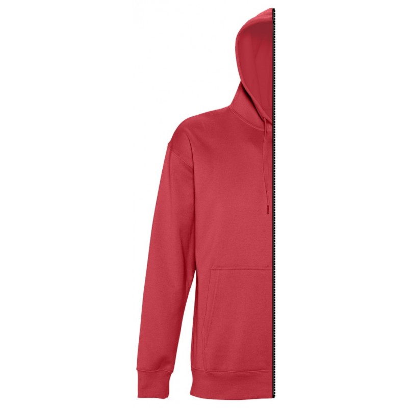 Home Sweat-shirt man with hood red - by12.co.uk