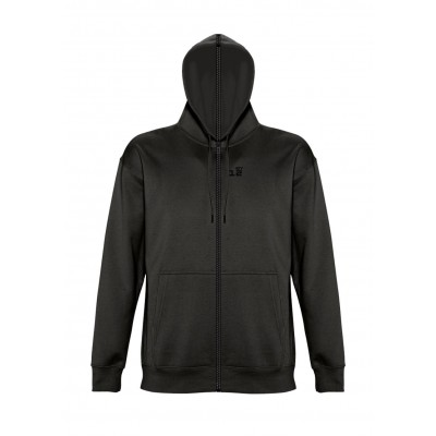 Sweat-shirt separable woman with hood black