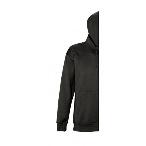 Sweat-shirt man with hood black