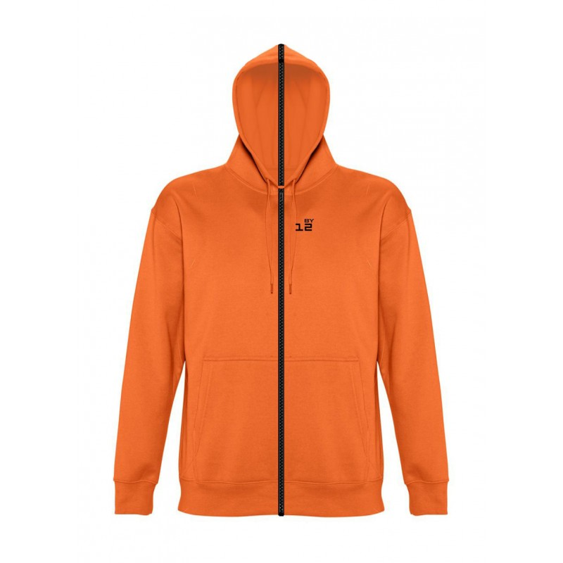 Accueil Sweat-shirt séparable femme avec capuche orange - by12.fr