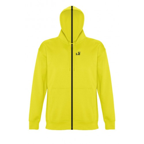 Sweat-shirt separable woman with hood lemon yellow