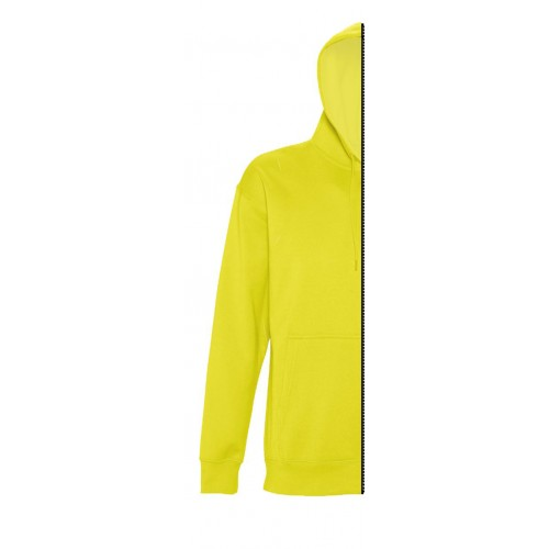 Sweat-shirt woman with hood lemon yellow