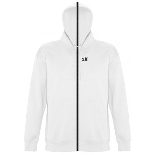 Sweat-shirt separable woman with hood white