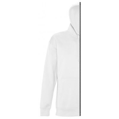 Sweat-shirt woman with hood white