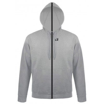 Sweat-shirt separable man with hood grey melange
