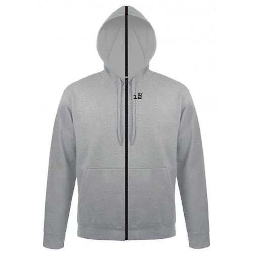Sweat-shirt separable woman with hood grey melange
