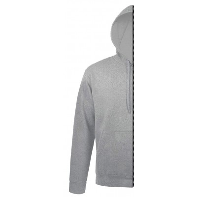 Home Sweat-shirt man with hood grey melange - by12.co.uk