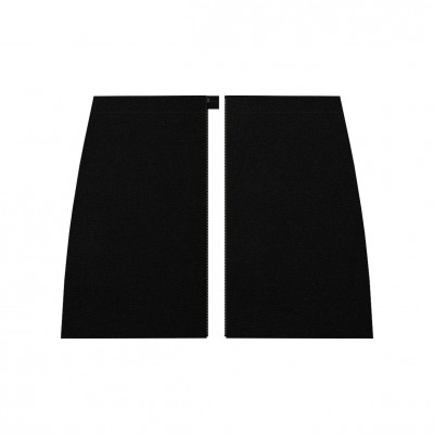 Separable short gabardine stretch black skirt