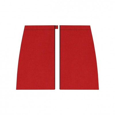 Red stretch velvet separable short skirt
