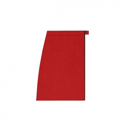 Short separable skirt right side red stretch velvet