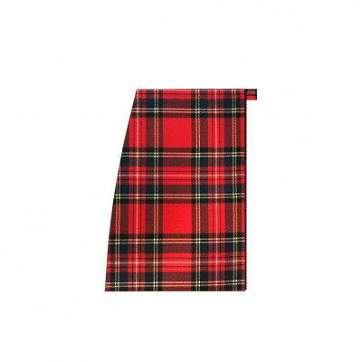 Short separable skirt right side scottish red