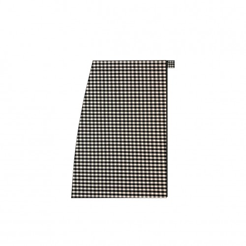 Short separable skirt on the right side black and white houndstooth