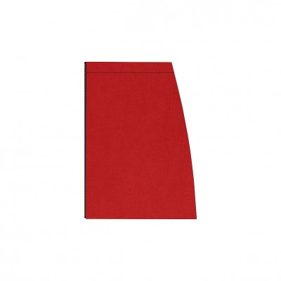 Short separable skirt left side red stretch velvet
