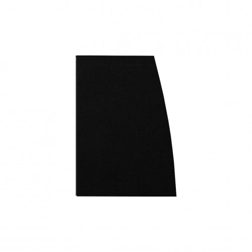 Short separable skirt left side black stretch velvet