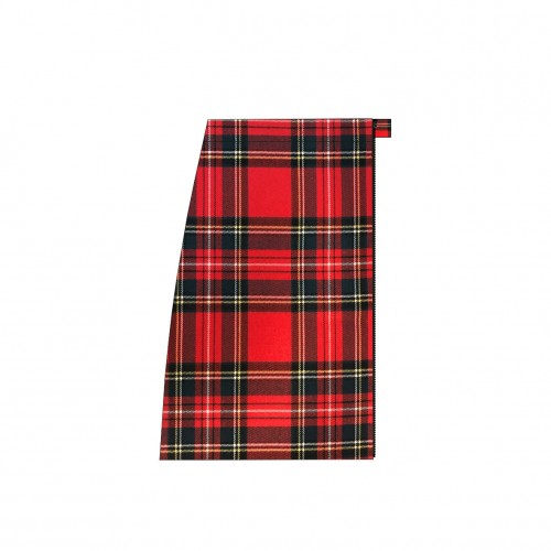 Long separable skirt right side Scottish red