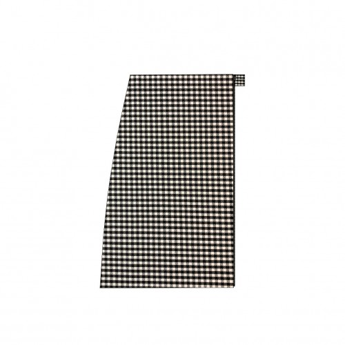 Long separable skirt on the right side black and white houndstooth
