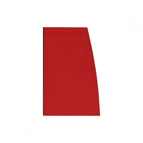 Long separable skirt left side red stretch velvet