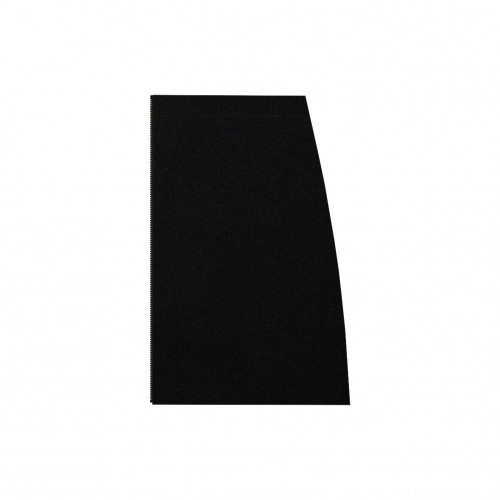 Long separable skirt left side black stretch gabardine