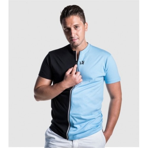 Separable short sleeved T-shirt for men