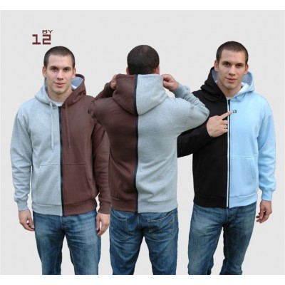 Separable hooded sweatshirt for men